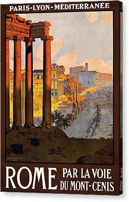 Rome Par La Voie Du Mont-cenis Canvas Print by Georgia Fowler