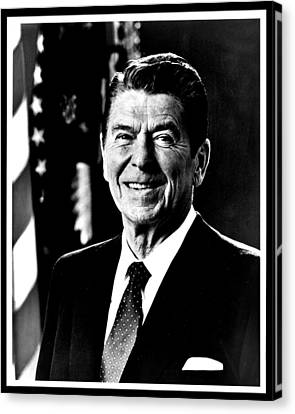 Ronald Reagan Canvas Print by Benjamin Yeager