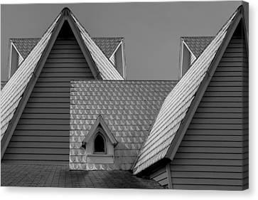 Roof Lines Canvas Print by Debra and Dave Vanderlaan