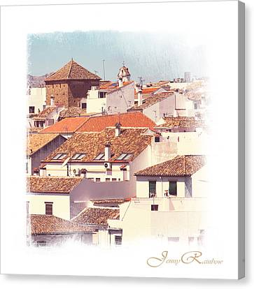 Roofs Of Ronda. Mini-ideas For Interior Design Canvas Print by Jenny Rainbow