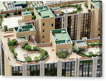 Rooftop Gardens Canvas Print by Chris Hellier