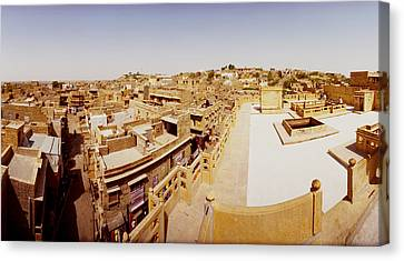 Rooftop View Of Buildings In A City Canvas Print by Panoramic Images