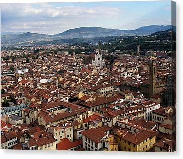 Rooftops Of Florence Canvas Print by David and Mandy