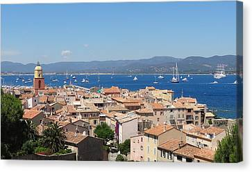rooftops of St-Tropez Canvas Print by Solange Rhode