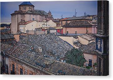 Rooftops Of Toledo Canvas Print by Joan Carroll