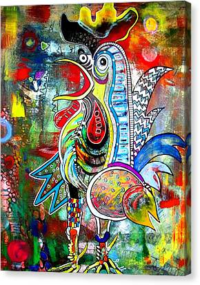 Rooster Canvas Print by Amy Sorrell