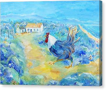 Rooster On Dingle Peninsula  Canvas Print by Trudi Doyle