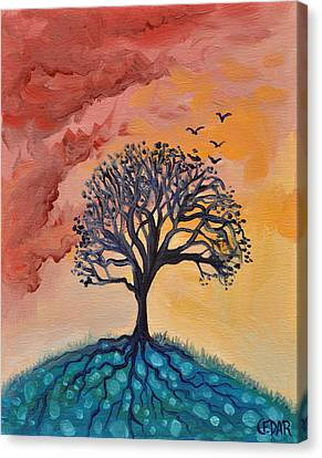 Roots And Wings Canvas Print by Cedar Lee