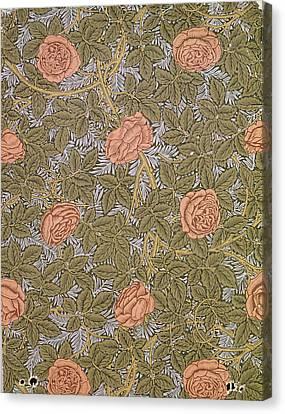 Rose 93 Wallpaper Design Canvas Print by William Morris