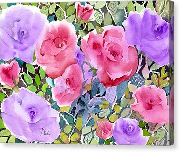 Rose Garden Canvas Print by Neela Pushparaj
