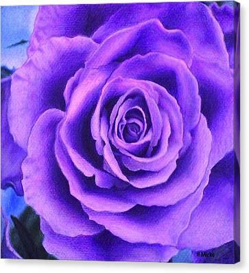 Rose Lavande Canvas Print by Mirko