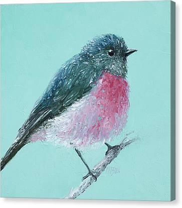 Rose Robin Canvas Print by Jan Matson