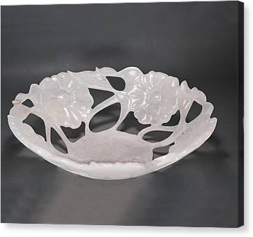 Rose Vase Canvas Print by Leslie Dycke