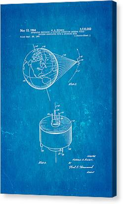Rosen Communications Satellite Patent Art 1964 Blueprint Canvas Print by Ian Monk