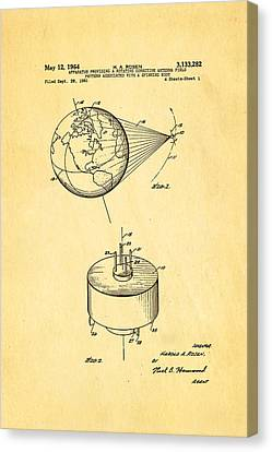 Rosen Communications Satellite Patent Art 1964 Canvas Print by Ian Monk