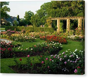 Roses Abound At The Boerner Botanical Gardens Canvas Print by Renee Skiba