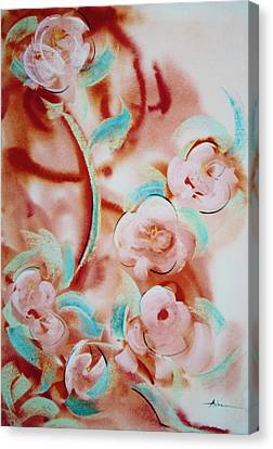 Roses And Rust Canvas Print by Asha Carolyn Young