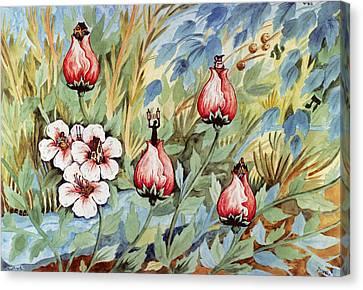 Roses Canvas Print by Michoel Muchnik