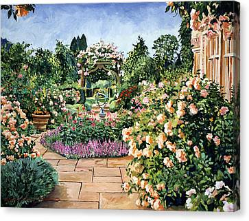 Roses Orange Canvas Print by David Lloyd Glover