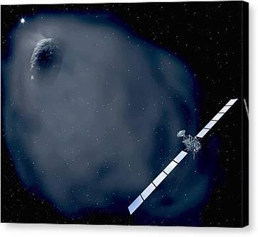 Rosetta Spacecraft Canvas Print by European Space Agency,aoes Medialab