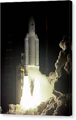 Rosetta Spacecraft Launch Canvas Print by Esa/cnes/arianespace-service Optique Csg, 2004