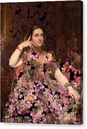 Rosita - Des Femmes Et Des Fleurs Canvas Print by Aimelle