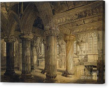 Roslyn Chapel Canvas Print by Joseph Michael Gandy