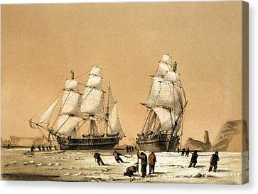 Ross Arctic Search Expedition, 1848-9 Canvas Print by Science Photo Library