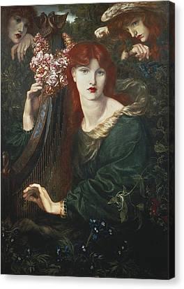 Rossetti, Dante Gabriel 1828-1882. La Canvas Print by Everett