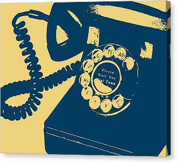 Rotary Telephone Canvas Print by Flo Karp