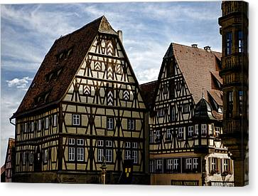 Rothenburg Architecture Canvas Print by Joanna Madloch
