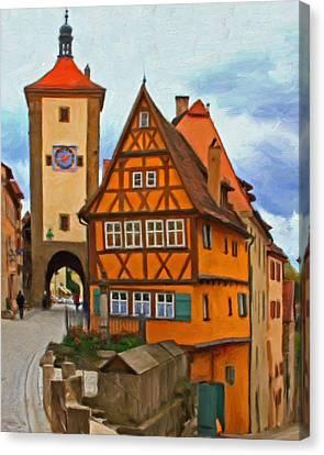 Rothenburg Canvas Print by Michael Pickett