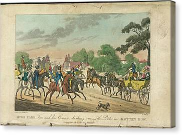 Rotten Row Canvas Print by British Library