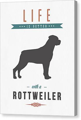 Rottweiler 01 Canvas Print by Aged Pixel