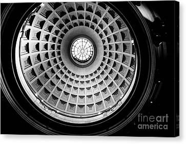 Rotunda Dome Black And White Canvas Print by Thomas Marchessault