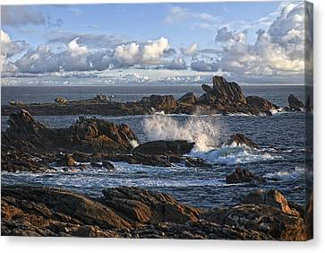 Rough Breton Shore Canvas Print by Joachim G Pinkawa