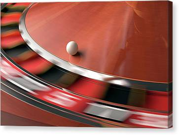 Roulette Wheel Canvas Print by Ktsdesign