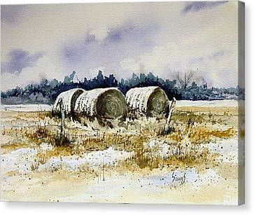 Round Bales Canvas Print by Sam Sidders