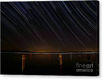Round Bay Startrails Canvas Print by Benjamin Reed