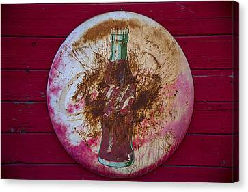 Round Coke Sign Canvas Print by Garry Gay