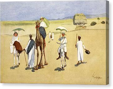 Round The Pyramids, From The Light Side Canvas Print by Lance Thackeray