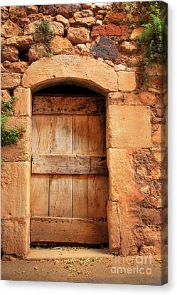 Roussillon Door Canvas Print by Inge Johnsson