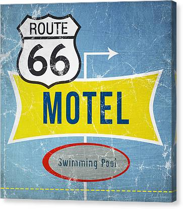 Route 66 Motel Canvas Print by Linda Woods