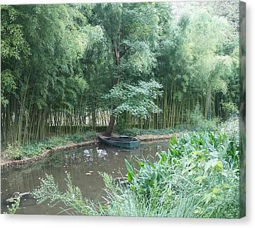 Row Boat Canvas Print by Kristine Bogdanovich