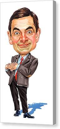 Rowan Atkinson As Mr. Bean Canvas Print by Art