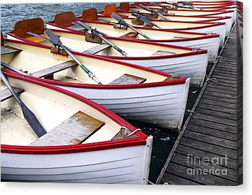 Rowboats Canvas Print by Elena Elisseeva