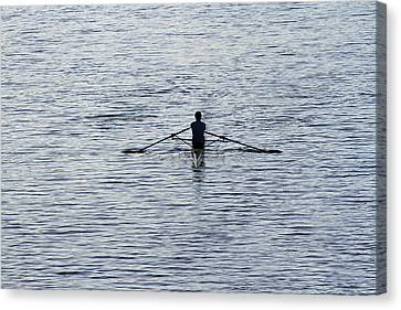 Rowing Canvas Print by Juergen Roth
