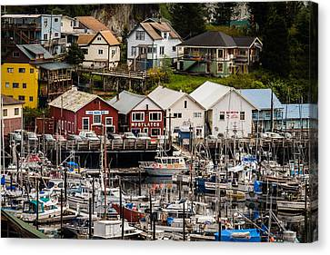 Rows Of Houses And Sails Canvas Print by Melinda Ledsome