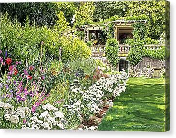 Royal Garden Canvas Print by David Lloyd Glover