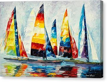 Royal Regatta Canvas Print by Leonid Afremov